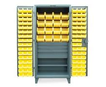 BIN STORAGE CABINET WITH 4 DRAWERS